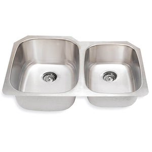Kitchen Sink Stainless Steel 18 Gauge 60/40 or 40/60  #SM503-L/R