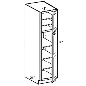 "PANTRY CABINET 2 DOORS PC1896 18""WX96""HX24""D"