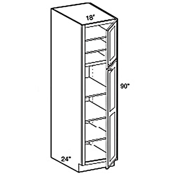 PANTRY CABINET 2 DOORS PC1896 18