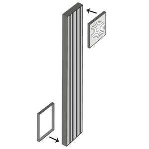 "FLUTED WALL FILLER RWF 3""WX96""H"