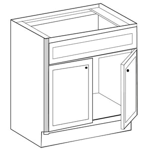VANITY SINK BASE CABINET WITH TWO DOORS VSB24