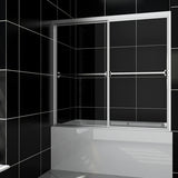 "SHOWER DOOR FOR BATHTUB 60"" WIDE X 57-3/8"" HIGH - CHROME - B0304P-3"