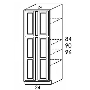 "PANTRY CABINET 4 DOORS PC3084 30""WX84""HX24""D"