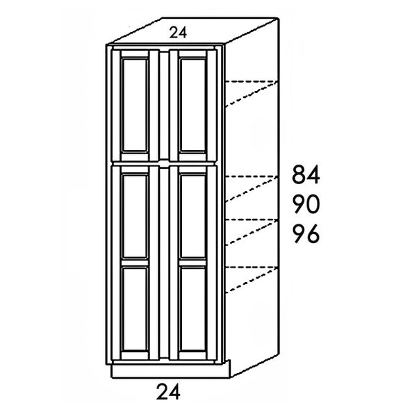PANTRY CABINET 4 DOORS PC2496 24