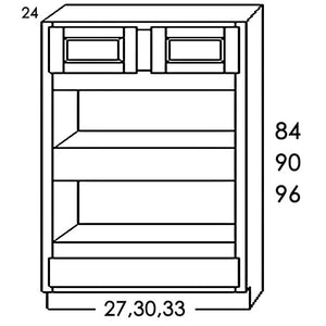 "DOUBLE OVEN CABINET DOC3390 33""WX90""HX24""D"