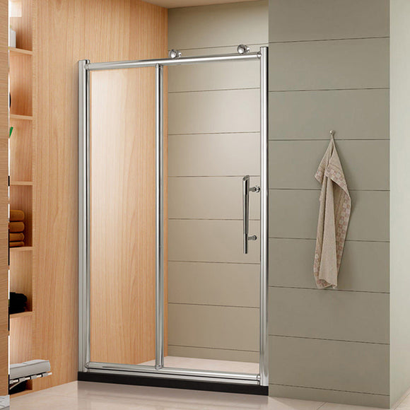 SHOWER DOOR FIXED ONE SIDE - ONE DOOR SWING OUT SIDE - 60