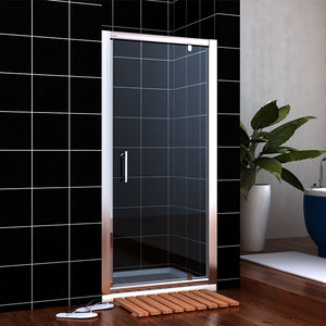 "ONE PANEL PIVOT SHOWER DOOR 30 IN WIDE - 30""W X 72""H, 3/16"" - A0706P1-PD30"