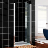 ONE PANEL PIVOT SHOWER DOOR 28IN WIDE - CHROME - A0703P-FP28