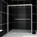 "SHOWER DOOR FOR BATHTUB SOFT CLOSE 60"" WIDE 57-3/8"" HIGH - B0952P213"