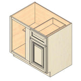 "BASE BLIND CORNER CABINET 1 DOOR 1 DRAWER BBC39 39""WX34.5""HX24""D"