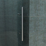 "FULLY FRAMELESS SHOWER DOOR - BP05P2-6062CB 60"" WIDE 62"" HIGH CLEAR TEMPERED GLASS, BRUSHED NICKEL"