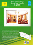 Plantinum Series Single Sliding Vinyl Window S-2900