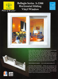 Bellagio Series S-3300 Horizontal Sliding Vinyl Window