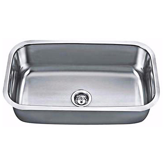 Single Bowl Stainless Steel 18G Undermount Kitchen Sink