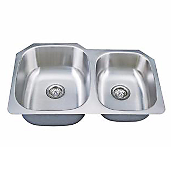 Double Bowl 60/40 Stainless Steel 18G Undermount Kitchen Sink