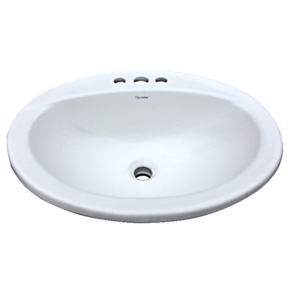 Vanity Bathroom Sink Top Mount White Ceramic Rectangular
