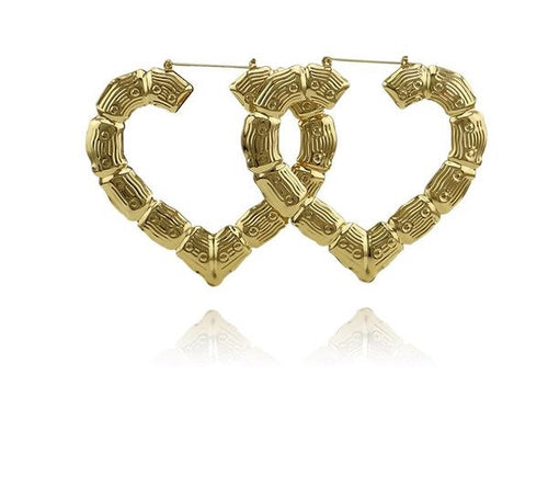 Heart Bamboo Earrings