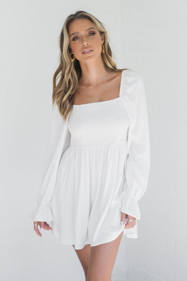 Cali Dress - Pure white