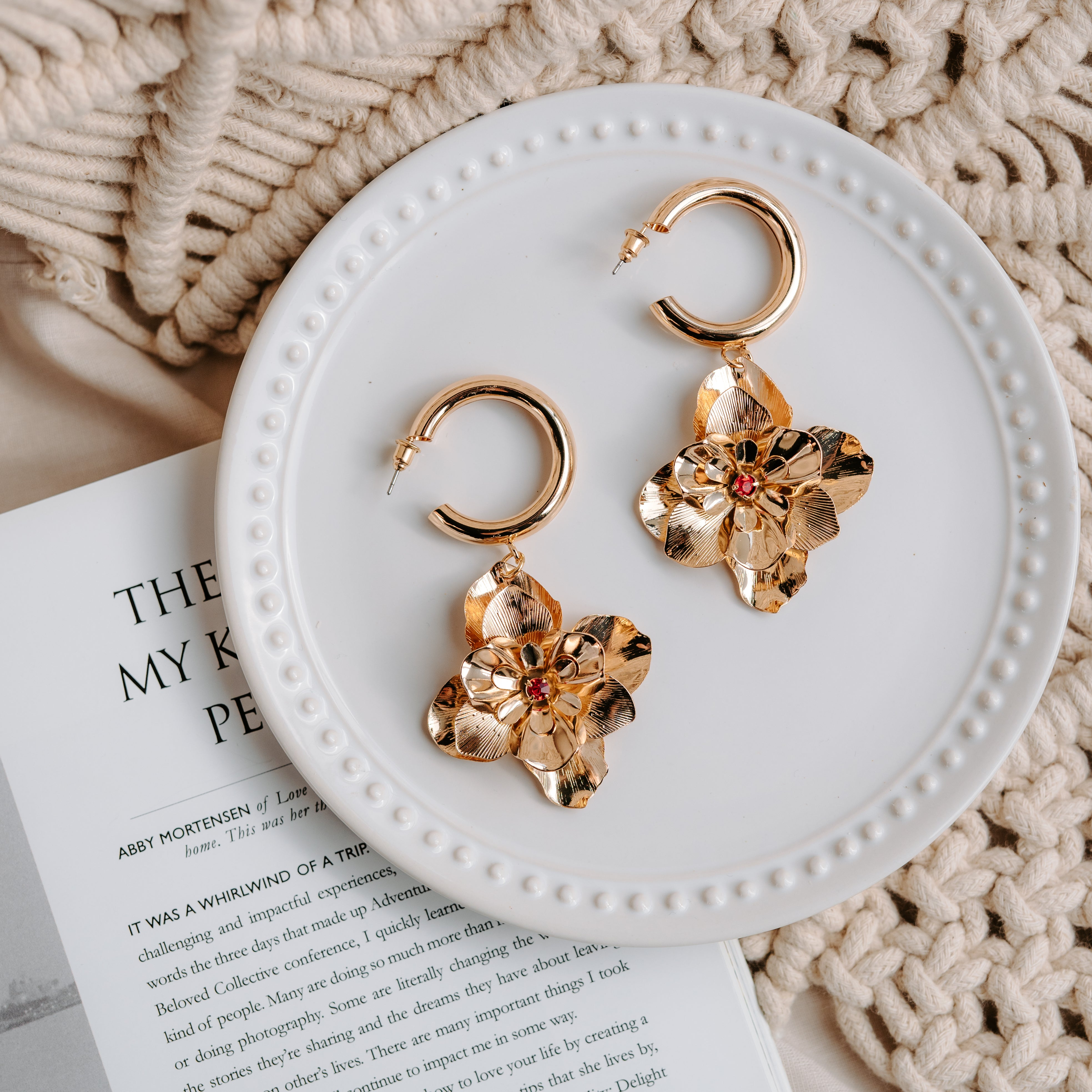 Aylini Floral Earrings