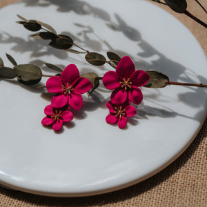*BACKORDER* Florinna Earrings (Fuchsia)