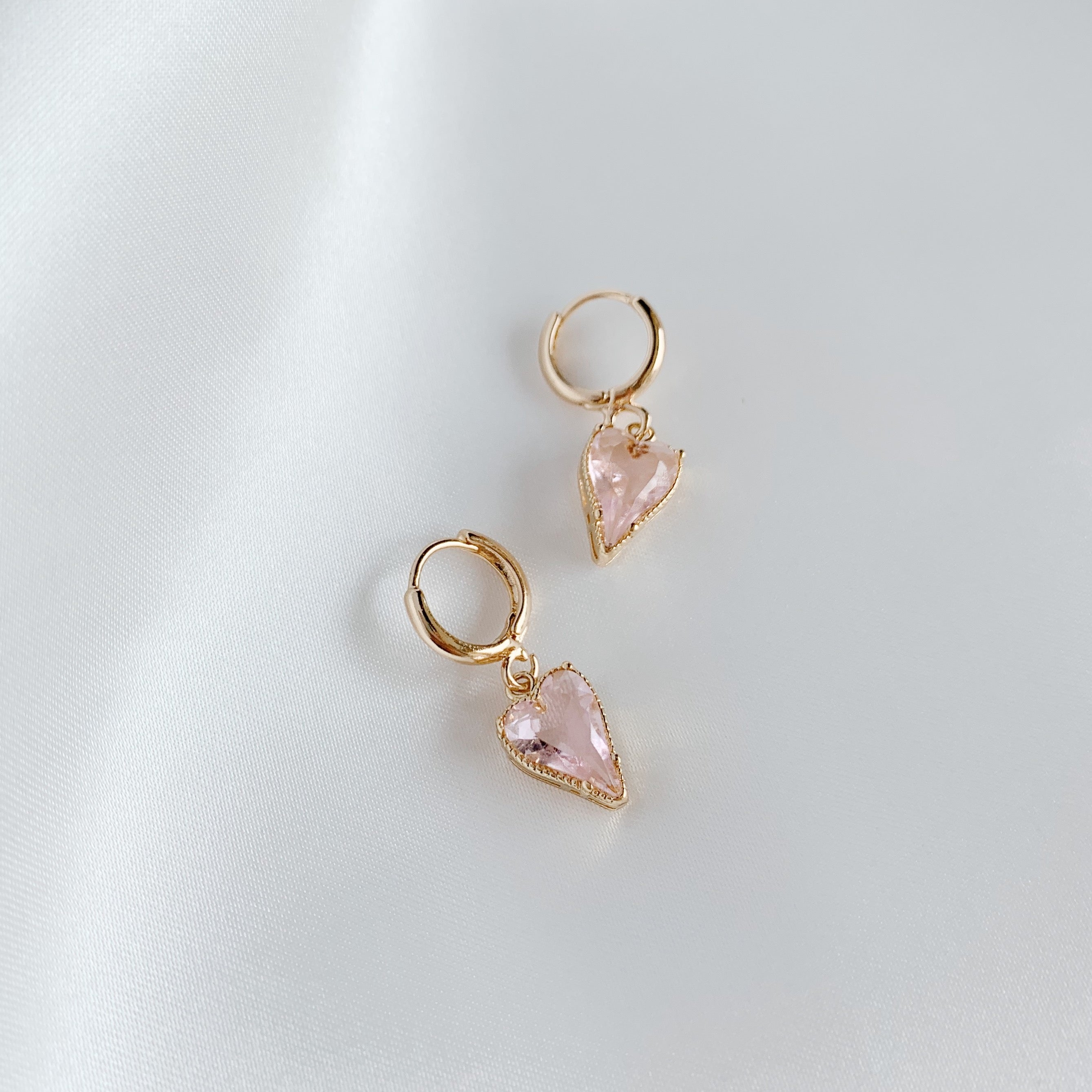 Champagne Glass Heart Earrings