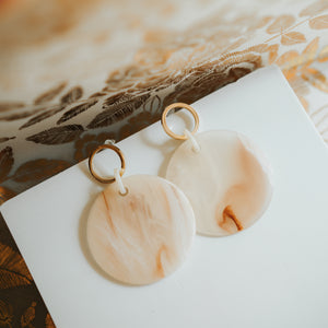 Tarenla Earrings (Beige)