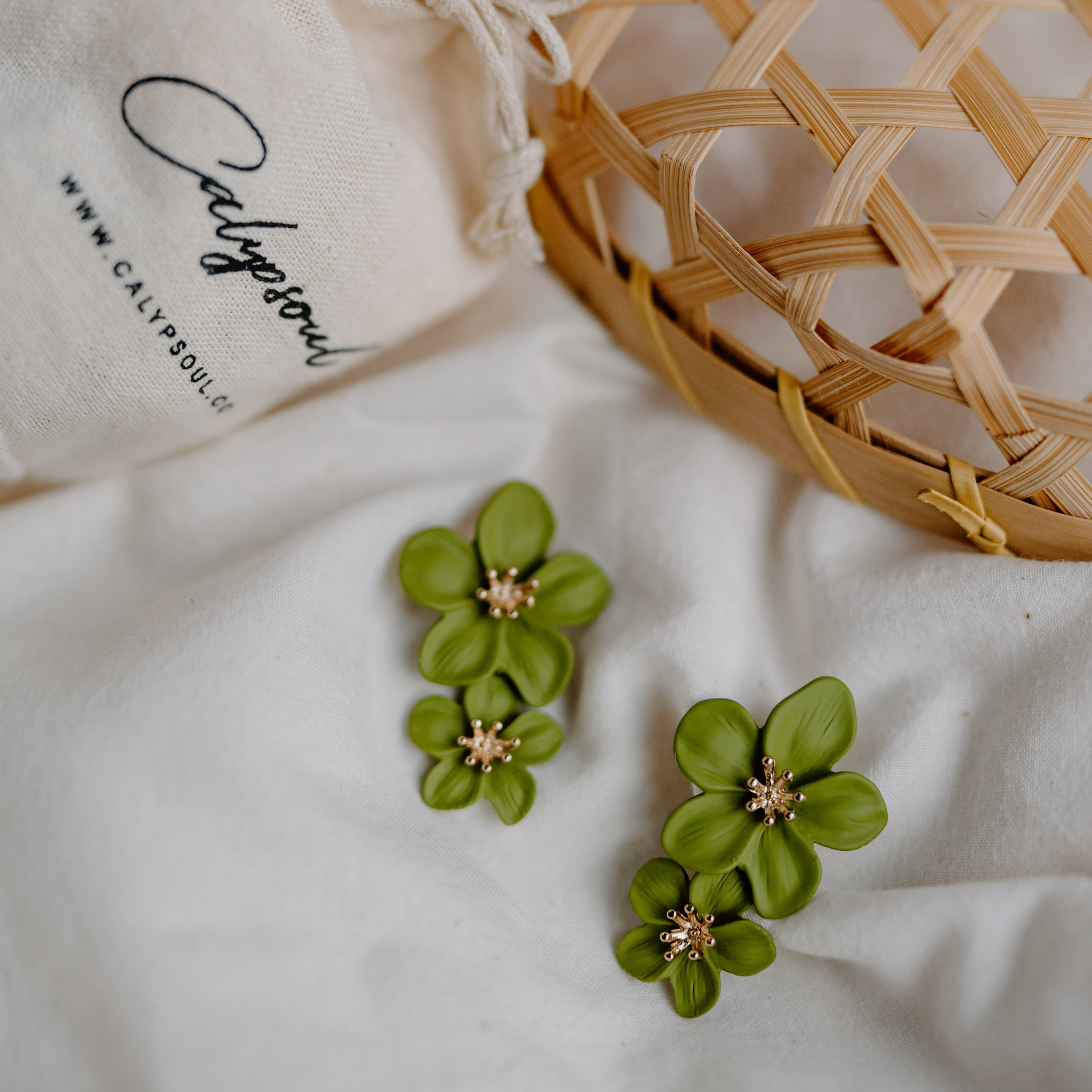 Florinna Earrings (Matcha Green)
