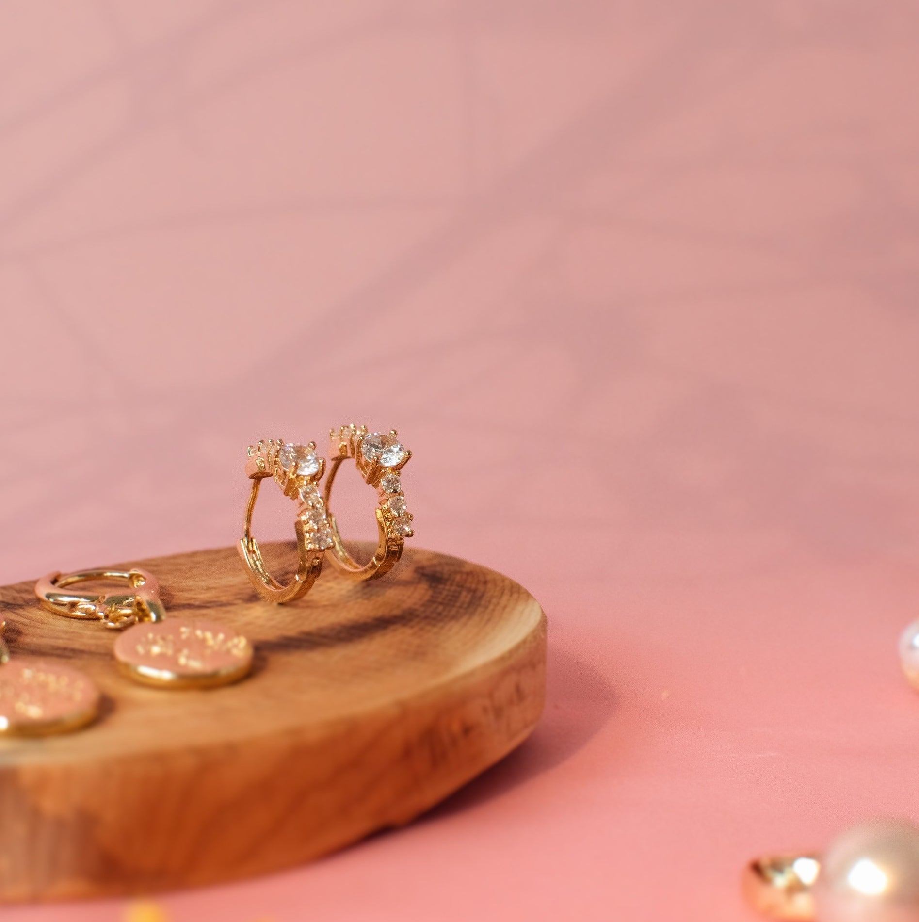 18k Gold Plated Shae Huggies Earrings