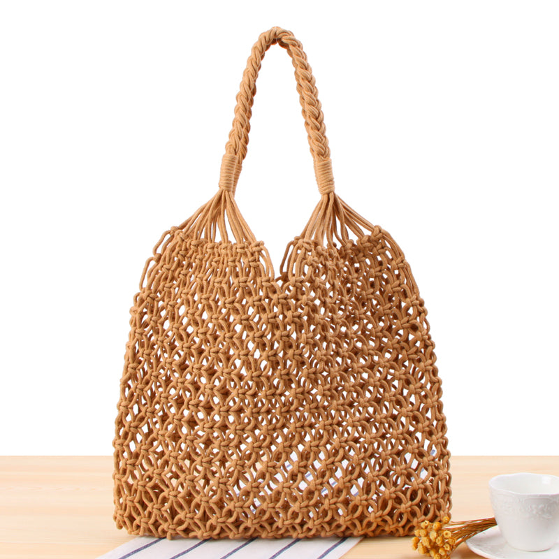 *PREORDER* Eukene Weaved Bag (Cream & Stable Brown)