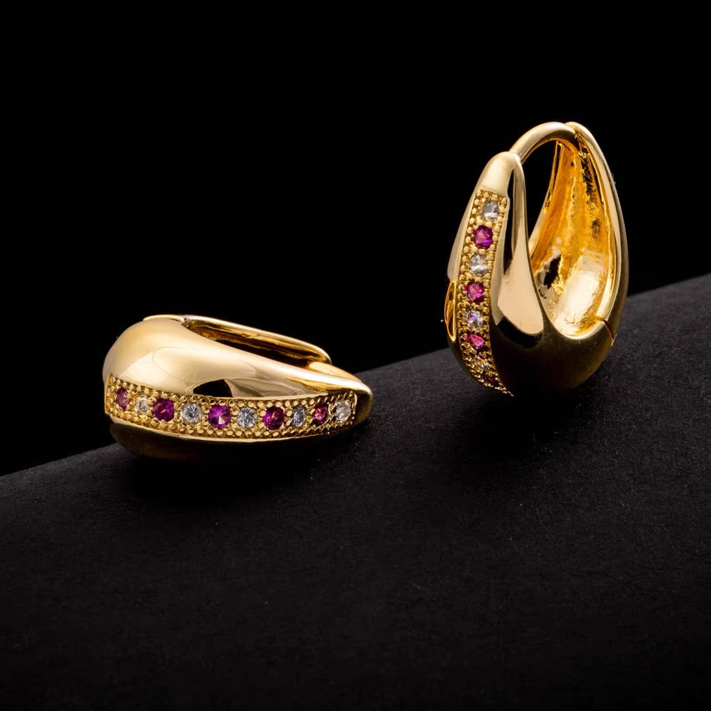 18k Gold-Plated Heliah Gold Hoop Earrings
