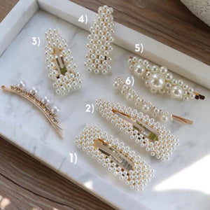 *PREORDER* Pearl Statement Hair Pins (6 Designs)