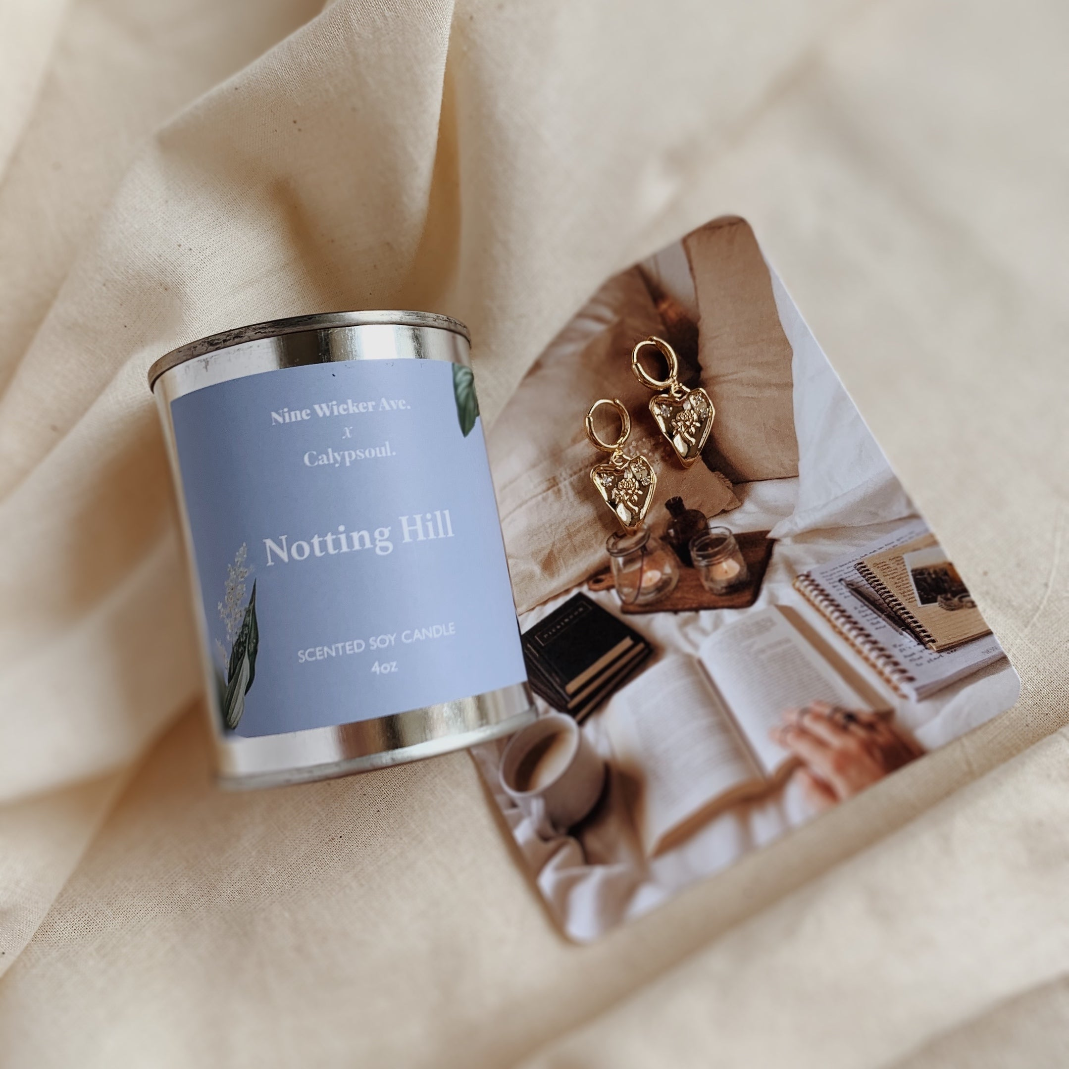 [Calypsoul x NWA] Notting Hill Candle Bundle with Isla Heart Huggies
