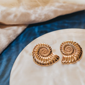 Galene Seashell Stud Earrings