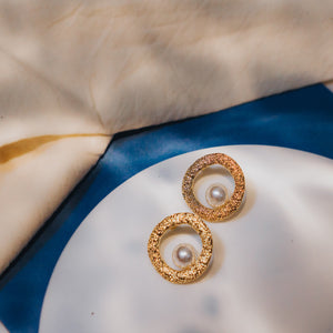 Thaleia Pearl Stud Earrings