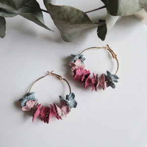 Mylie Floral Earrings (Multi-coloured Teal)