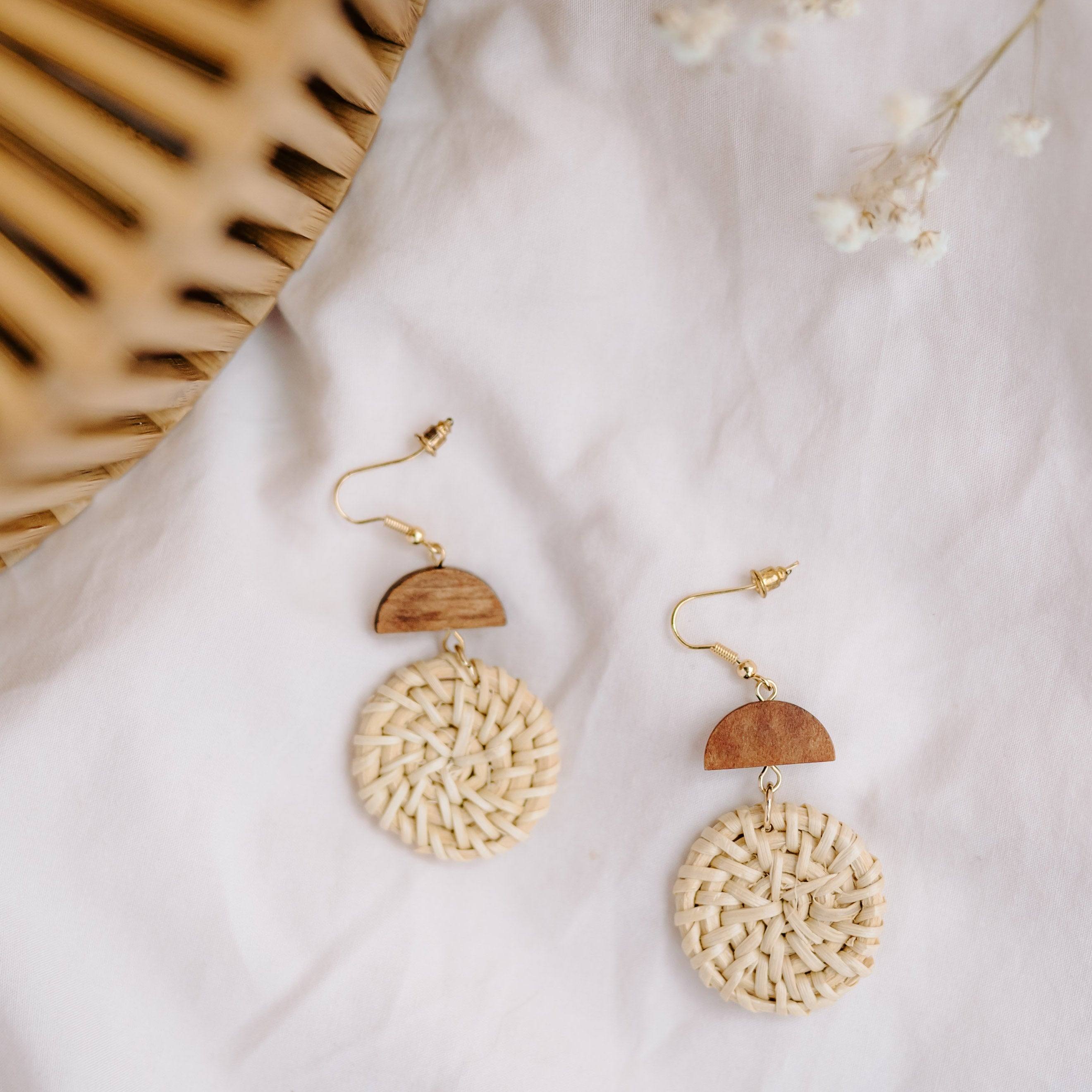 Arlette Rattan Earrings