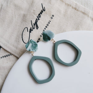 Lottie Earrings (Matte Teal)