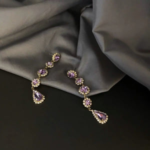 925 SILVER Charmian Lilac Jewel Earrings