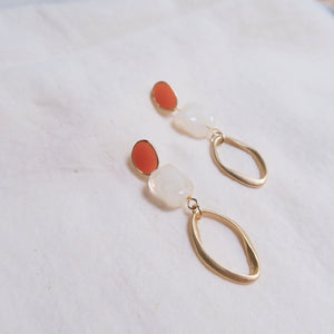 Phania Earrings (Terracotta)