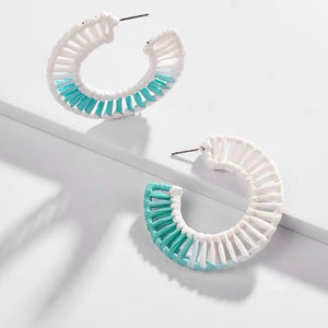 Caster Weaved Earrings (Ocean Blue)