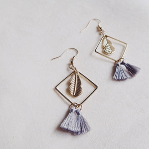Wynter Tassel Earrings (Grey)