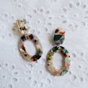 Bette Resin Earrings (Multi-coloured)