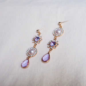925 SILVER Andela Jewel Earrings (Lilac)