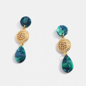 Lisa Earrings (Forest Green)