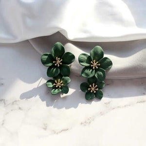 *BACKORDER* Florinna Earrings (Forest Green)