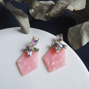 Kalini Jewel Earrings (Pink)
