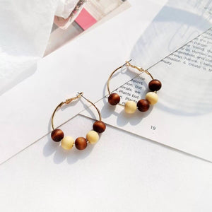 Metto Hoop Earrings (Vanilla)