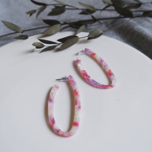Julita Earrings (Pink Marble)