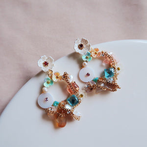 Portia Floral Statement Earrings