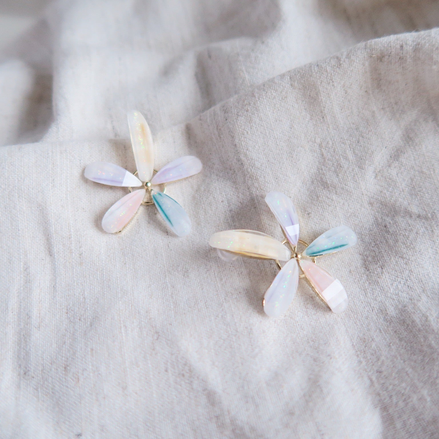 925 SILVER Reina Floral Earrings (Statement Studs)